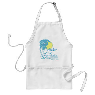 Aloha Tropical Hawaiian Design Standard Apron