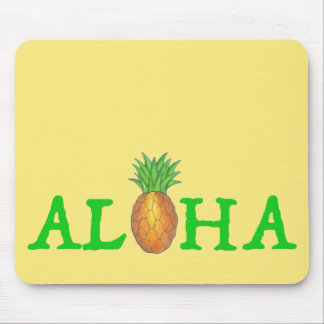 ALOHA Tropical Hawaiian Island Pineapple Fruit Mouse Pad