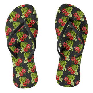 Aloha Tropical Hibiscus Flip Flops