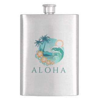 Aloha Tropical Hip Flask