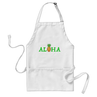 ALOHA Tropical Island Hawaiian Pineapple Apron