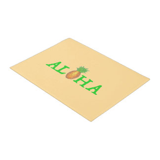 ALOHA Tropical Island Hawaiian Pineapple Door Mat