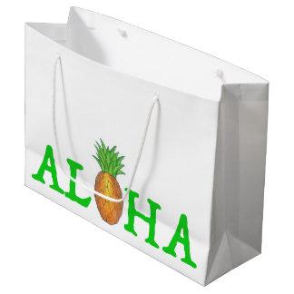 ALOHA Tropical Island Hawaiian Pineapple Gift Bag