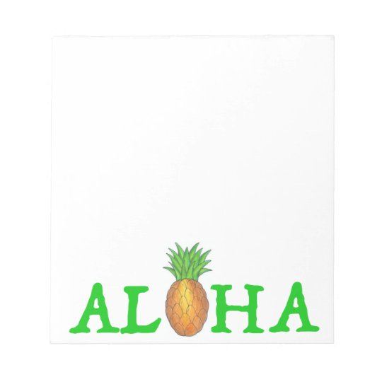 ALOHA Tropical Island Hawaiian Pineapple Notepad