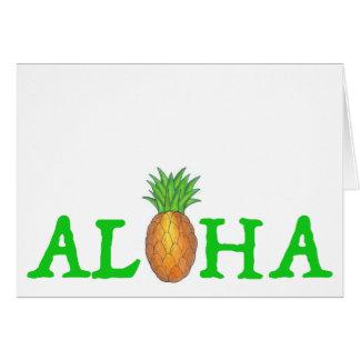 ALOHA Tropical Island Hawaiian Pineapple Postcard