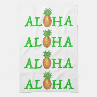 ALOHA Tropical Island Hawaiian Pineapple Towel