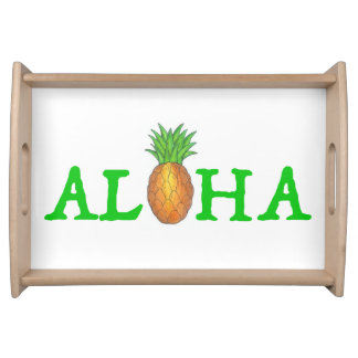 ALOHA Tropical Island Hawaiian Pineapple Tray