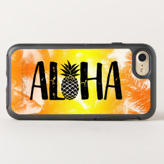 Aloha Tropical Pineapple Golden Beach Palm Trees OtterBox Symmetry iPhone 8/7 Case