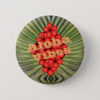 Aloha Vibes 2 Inch Round Button