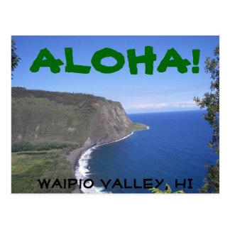 Aloha Waipio Valley Postcard