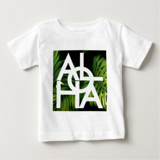 Aloha White Graphic Hawaii Palm Baby T-Shirt