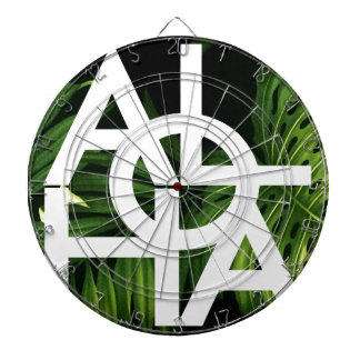 Aloha White Graphic Hawaii Palm Dartboard
