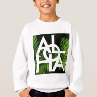Aloha White Graphic Hawaii Palm Sweatshirt
