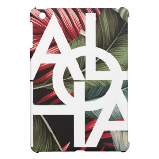 Aloha White Square Red Palm iPad Mini Case