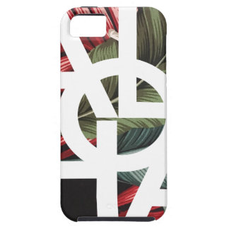 Aloha White Square Red Palm iPhone 5 Case