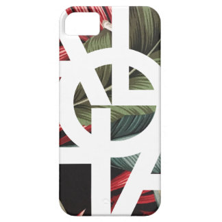 Aloha White Square Red Palm iPhone 5 Cases