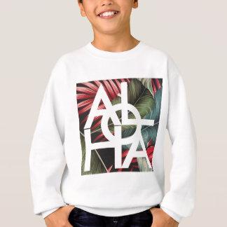 Aloha White Square Red Palm Sweatshirt