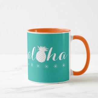 Aloha with a Pineapple - Coffee Mug