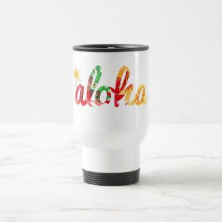 Aloha with a yellow plumeria mug