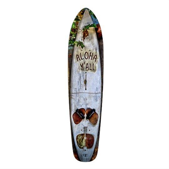 Aloha Y'ALL Tropical skateboard