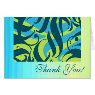 Aloha You, lime aqua splash, Thank You Cards