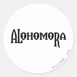 Alohomora Round Sticker