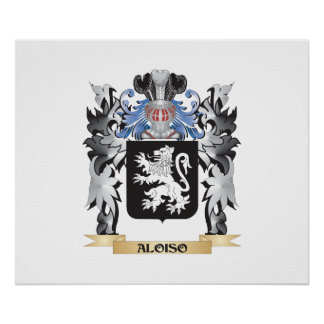 Aloiso Coat of Arms - Family Crest Poster