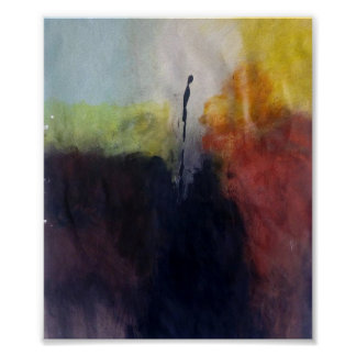 ALONE- Abstract Painting Poster