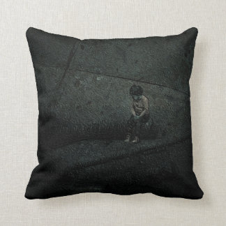 Alone In ABig World Throw Pillow