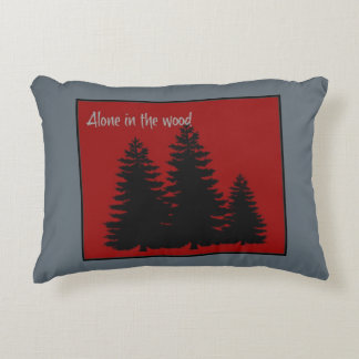 'Alone in the Wood' Throw Pillow