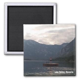 Alone on Lake Bohinj Magnet