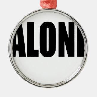 alone party night summer end invitation flirt roma Silver-Colored round ornament