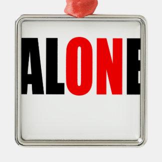 alone party night summer end invitation flirt roma Silver-Colored square ornament