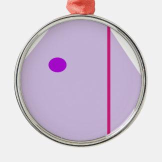 Alone Silver-Colored Round Ornament