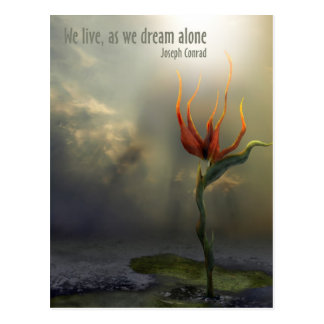 "Alone - ""We live, as we dream - alone"" - Postcard"