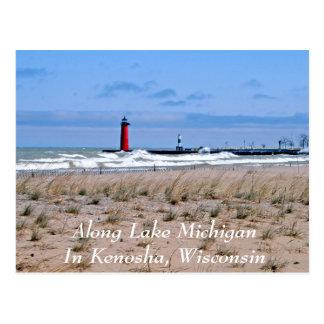 Along Lake Michigan Postcard