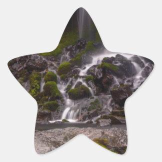 Along the Banks of Burney Creek Star Sticker