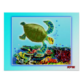 Along the Great Barrier Reef Poster