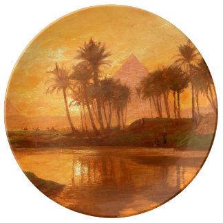 Along the Nile Porcelain Decorative Plate