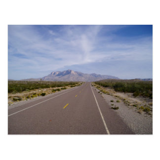 Along the Road - El Capitan - Guadalupe Mountains Postcard
