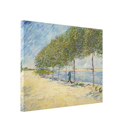 Along the Seine by Vincent Van Gogh Canvas Prints