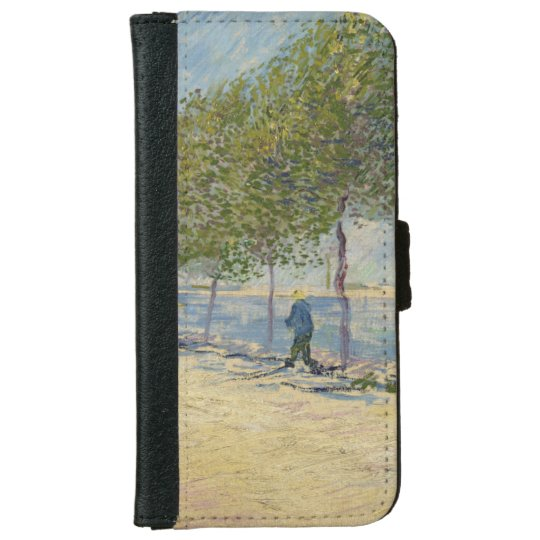 Along the Seine by Vincent Van Gogh iPhone 6 Wallet Case