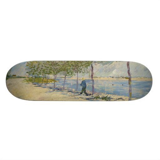 Along the Seine by Vincent Van Gogh Skateboard Deck