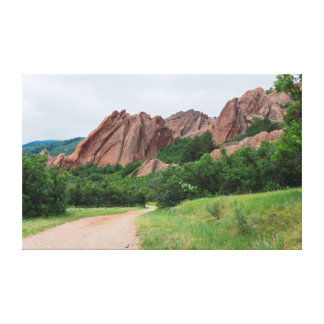 Along the Trail at Roxborough Canvas Print