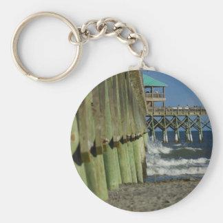 Alongside Folly Pier Keychain