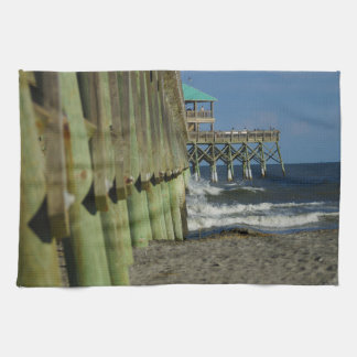 Alongside Folly Pier Kitchen Towel