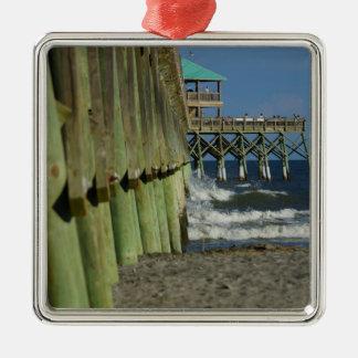 Alongside Folly Pier Metal Ornament
