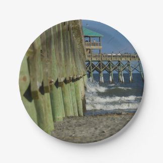Alongside Folly Pier Paper Plate