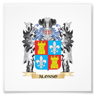 Alonso Coat of Arms - Family Crest Photo Print