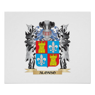 Alonso Coat of Arms - Family Crest Poster